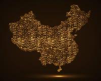 Mapa abstrato de China Fotos de Stock Royalty Free