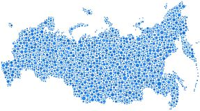 Mapa abstrato de Rússia Imagem de Stock Royalty Free