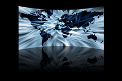 Mapa abstrato do mundo Foto de Stock Royalty Free