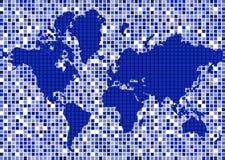 Mapa abstrato do mundo Imagem de Stock