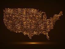 Mapa abstrato dos EUA Imagens de Stock