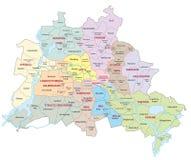 Mapa administrativo de Berlín ilustración del vector