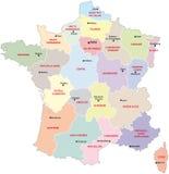 Mapa administrativo de França ilustração royalty free
