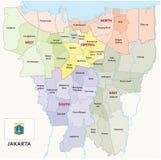 Mapa administrativo de Jakarta ilustração stock