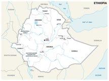 Mapa administrativo y político de Etiopía