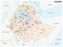 Mapa administrativo y pol?tico de Etiop?a