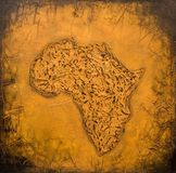 Mapa africano pintado Imagem de Stock Royalty Free