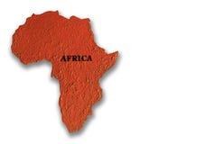 Mapa Afryka Obrazy Royalty Free