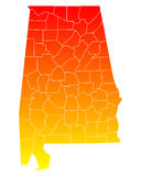 mapa alabama Obrazy Stock