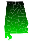 mapa alabama Obrazy Royalty Free