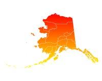 Mapa Alaska Obrazy Royalty Free