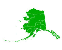 Mapa Alaska Obraz Royalty Free