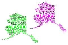 Mapa Alaska - wektorowa ilustracja Fotografia Royalty Free
