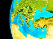 Mapa Albania w czerwieni ilustracja wektor