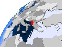 Mapa Albania w czerwieni ilustracji
