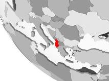 Mapa Albania w czerwieni royalty ilustracja