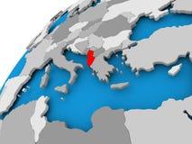 Mapa Albania w czerwieni Zdjęcie Stock