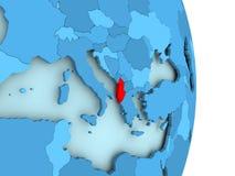 Mapa Albania w czerwieni Zdjęcia Royalty Free