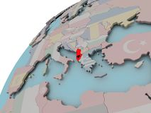 Mapa Albania z flaga Obrazy Royalty Free