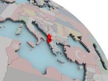 Mapa Albania z flaga Fotografia Stock