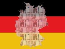 Mapa alemão Foto de Stock