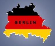 Mapa Alemanha de Berlim Foto de Stock