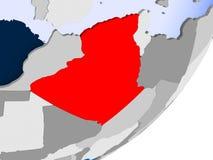 mapa algeria Fotografia Stock