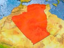 mapa algeria Obraz Royalty Free