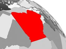 mapa algeria royalty ilustracja