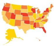 Mapa americano ilustração do vetor