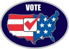 Mapa americano da eleição do voto dos EUA Imagens de Stock