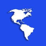 Mapa americano do esboço Imagem de Stock Royalty Free