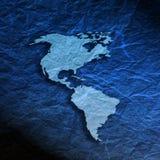Mapa americano textured azul Fotografia de Stock Royalty Free
