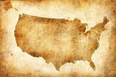 Mapa americano velho Foto de Stock