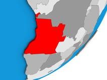 Mapa Angola na 3D kuli ziemskiej royalty ilustracja