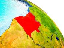 Mapa Angola na 3D ziemi ilustracja wektor