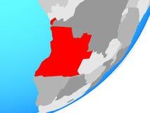 Mapa Angola na kuli ziemskiej ilustracja wektor
