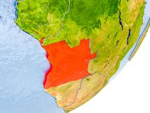 Mapa Angola na ziemi Fotografia Stock