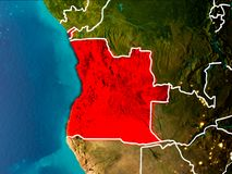 Mapa Angola na ziemi Obraz Stock