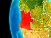Mapa Angola w czerwieni ilustracja wektor