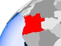 Mapa Angola w czerwieni royalty ilustracja