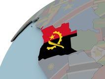 Mapa Angola z flaga Obraz Royalty Free
