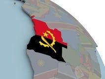 Mapa Angola z flaga Fotografia Royalty Free