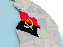 Mapa Angola z flaga Obrazy Royalty Free
