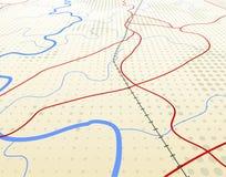 Mapa angular ilustração royalty free