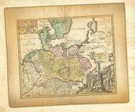Mapa antigo. imagens de stock royalty free