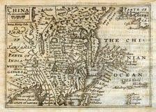 Mapa antigo China Japão Coreia da velocidade 1635 Imagens de Stock Royalty Free