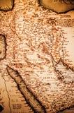 Mapa antigo da península árabe Fotos de Stock