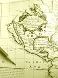 Mapa antigo de America do Norte Foto de Stock