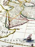 Mapa antigo de Arábia fotos de stock royalty free
